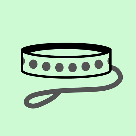 collarin: icono collar de perro Vectores