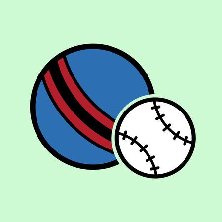 heath: dog balls flat icon