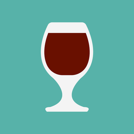 tumbler: glass flat icon Illustration