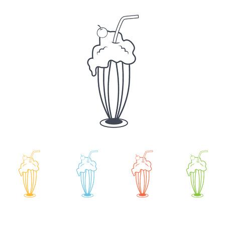 milk shake: milk shake icon Illustration