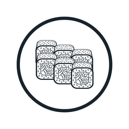 egg roll: sushi icon