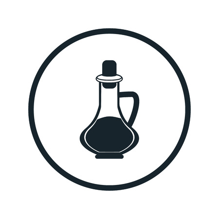 chinese food container: soy sauce icon Illustration