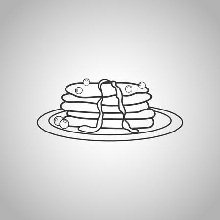 pancakes icon Illustration