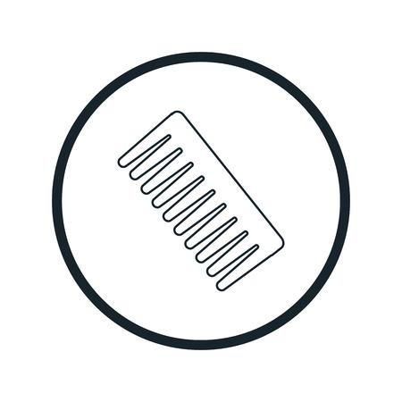 comb: comb icon Illustration