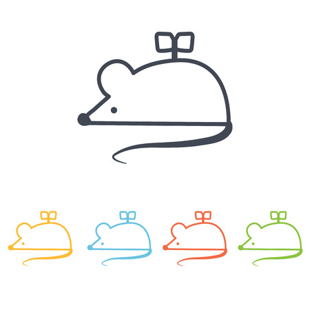 clockwork mouse icon Illustration