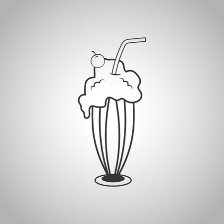 milk shake icon Illustration