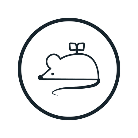 clockwork: clockwork mouse icon Illustration