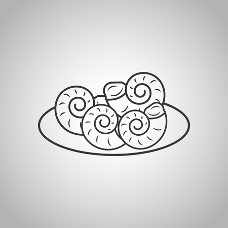 expensive food: oysters icon Illustration
