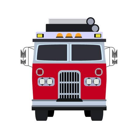 fire engine: fire engine flat icon Illustration