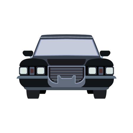 coachwork: machine hearse flat icon Illustration