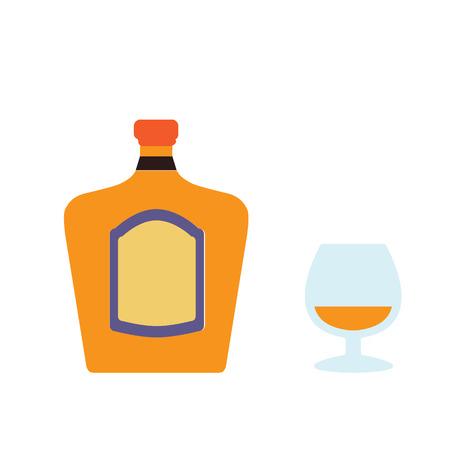 balsam: alcohol bottle flat icon