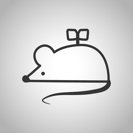 prankster: clockwork mouse icon Illustration