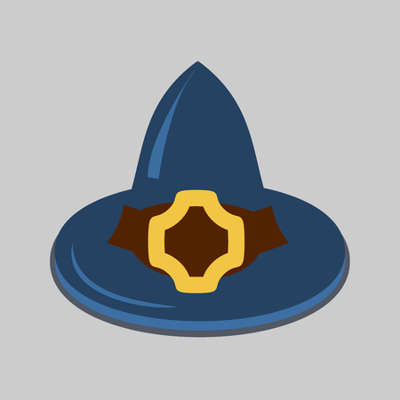 all caps: witch hat flat icon