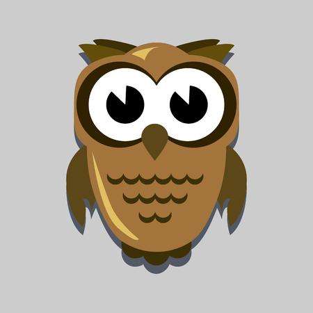 all saints day: owl flat icon