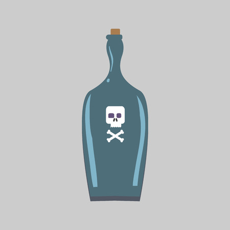 bane: bottle of poison flat icon
