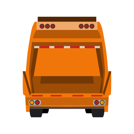 refuse: refuse collection vehicle flat icon