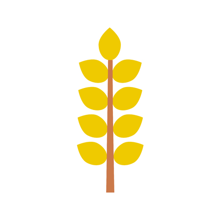 autumn leaf flat icon