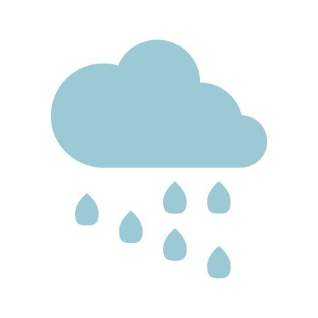 rain cloud: rain cloud flat icon