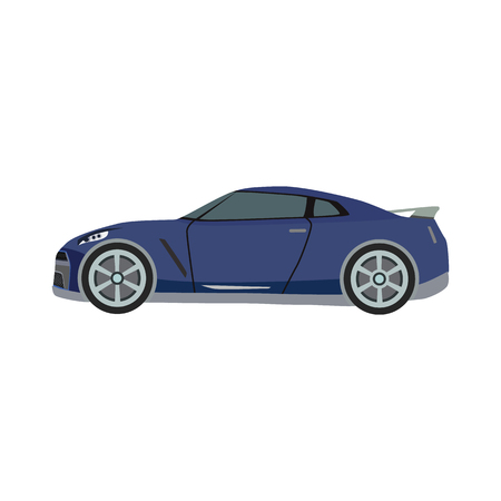 super car flat icon