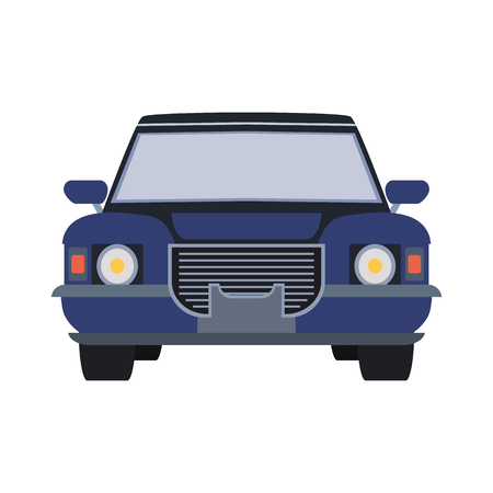 machine hearse flat icon Illustration