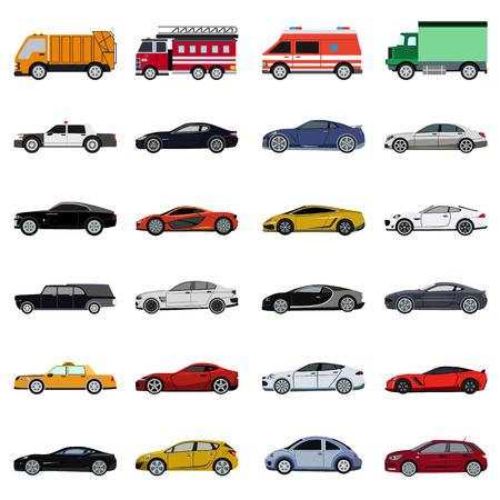 set di icone piatta Super Car