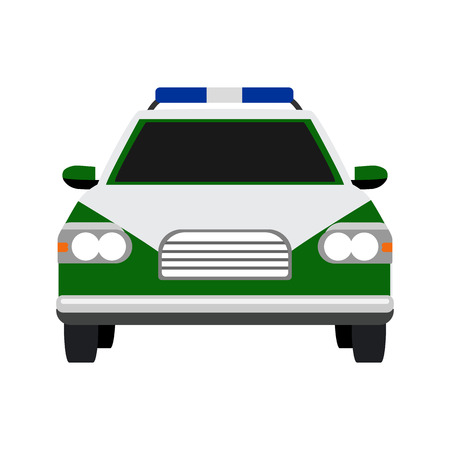 enforce: police car flat icon Illustration