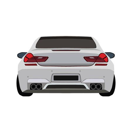 super car flat icon Ilustração Vetorial