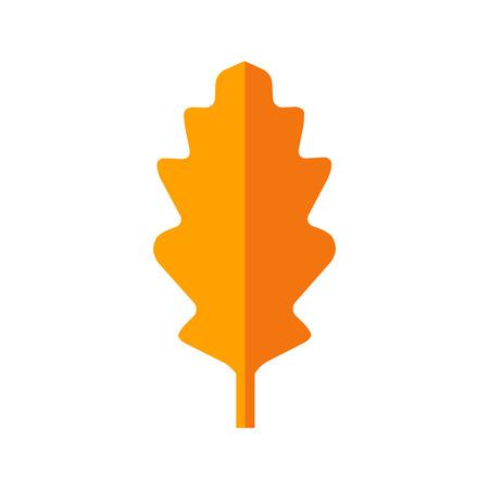 closer: autumn leaf flat icon