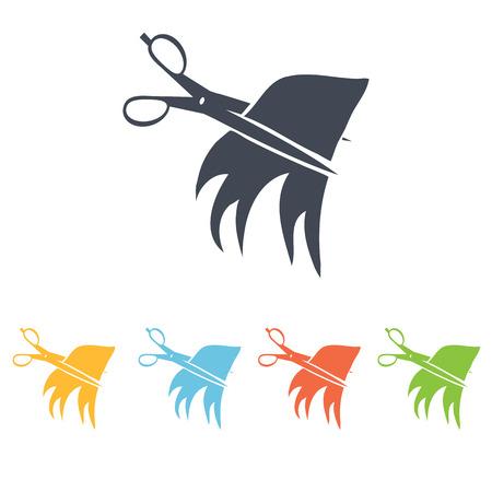 cut hair icon