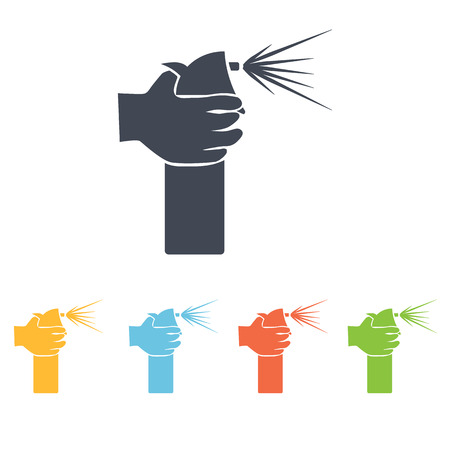 compressed air: hair spray icon Illustration