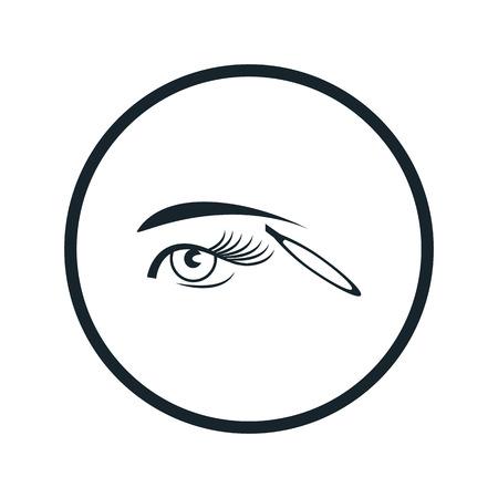 balanza de laboratorio: icono de pinza de cejas