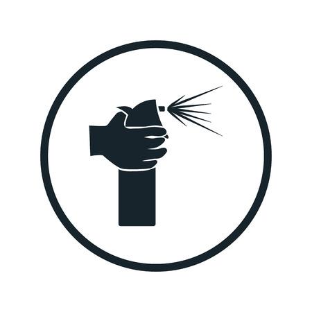 compressed gas cylinder: hair spray icon Illustration