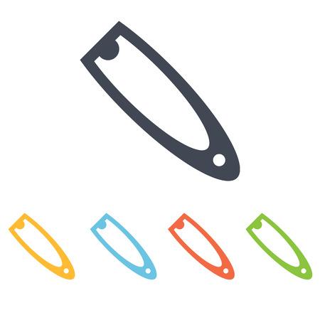 equipment for manicure icon Illustration