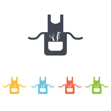 pinafore: barber apron icon