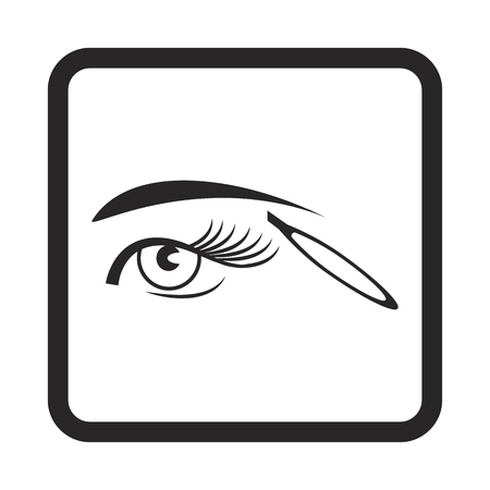 eyebrow tweezers icon