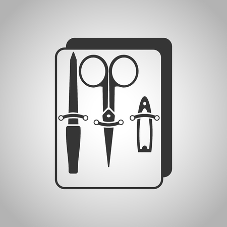 cuticle: equipment for manicure icon Illustration