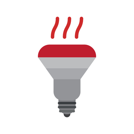 incandescent lamp flat icon