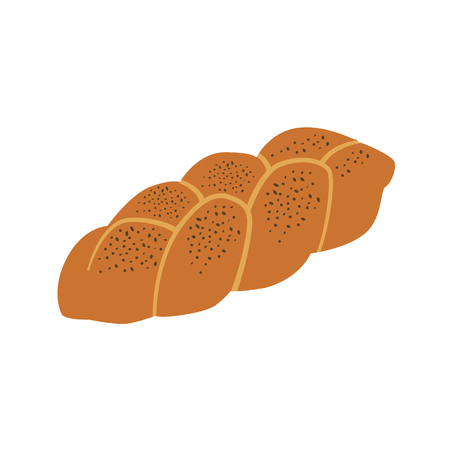 long loaf: long loaf flat icon Illustration