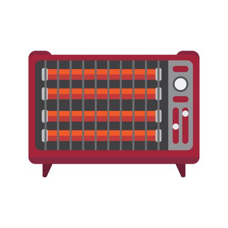 radiador icono plana Ilustración de vector