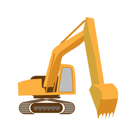 mine site: excavator flat icon