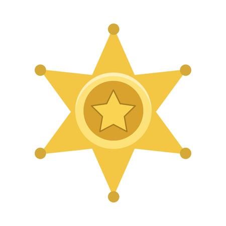 sheriff: sheriff badge flat icon Illustration