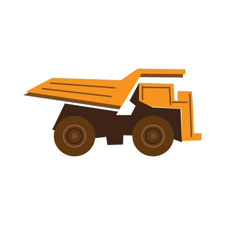 mine site: truck flat icon Illustration