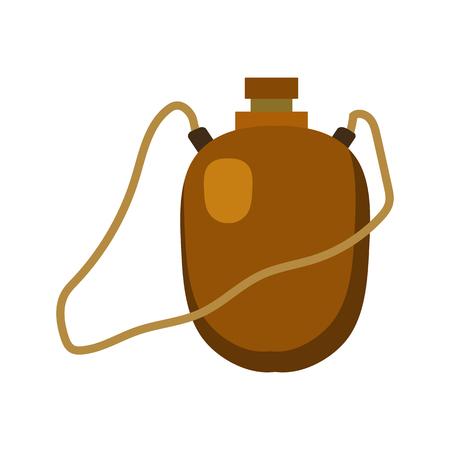 hip flask: flask flat icon
