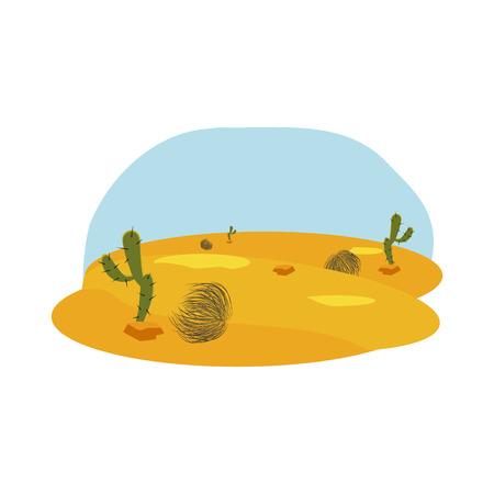 desert flat icon Illustration