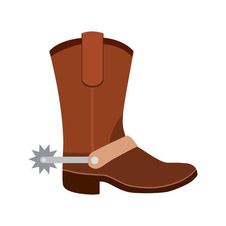 cowboy boots flat icon Illusztráció