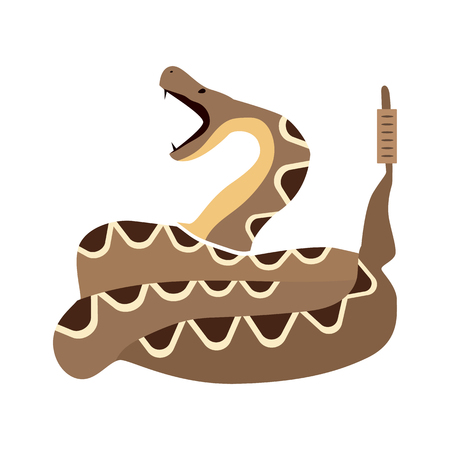 desert snake flat icon Illustration