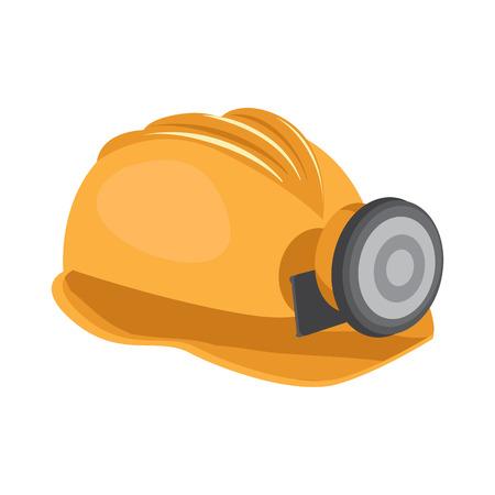 miner's helmet flat icon