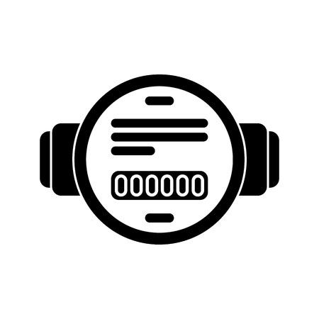 water meter flat icon Illustration