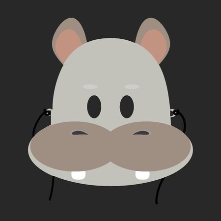 behemoth: animal mask flat icon