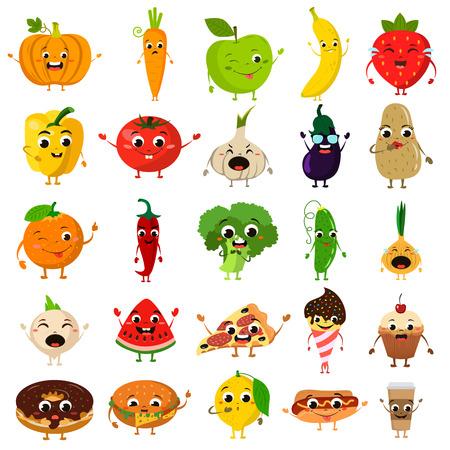 Nourriture animé icône plat ensemble Banque d'images - 67446665